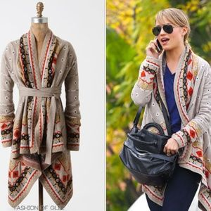 Promises To Keep Sweater Cardigan by Sparrow Sz S